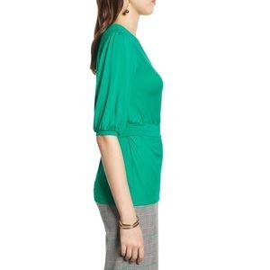 Halogen Tops - Halogen Wrap Knit Top Green M